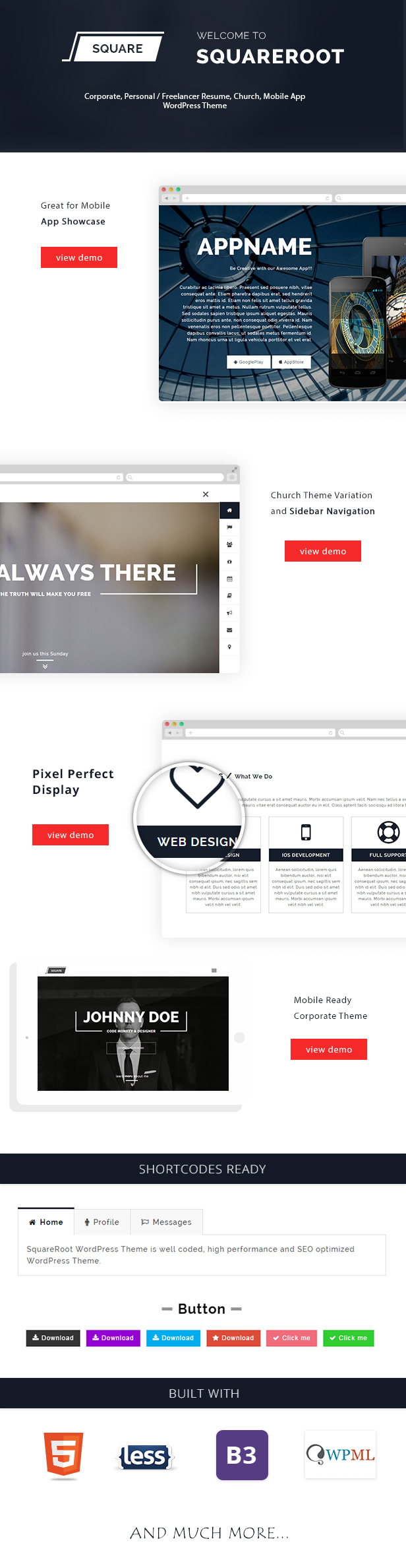 Onepage WordPress Resume Theme for vCard, CV, Personal Resume