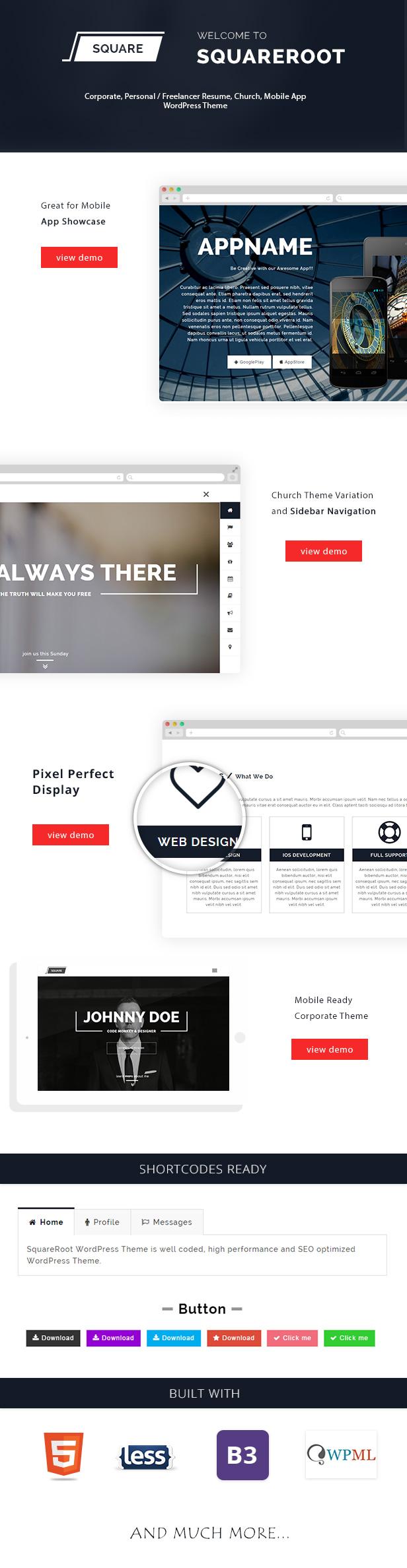 1ページ分WordPressはvCardの、CV、パーソナル再開のためのテーマを再開します