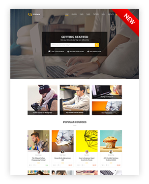 Courses Hub WordPress Theme - Education WP