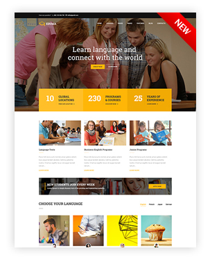 Languages School WordPress Theme - Education WP