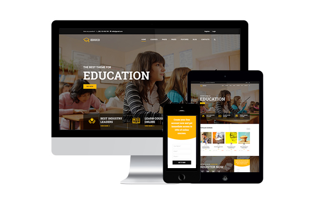 Mobile-Friendly Education WordPress Theme