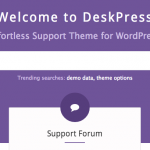 DeskPress – Effortless Support Theme for WordPress is coming