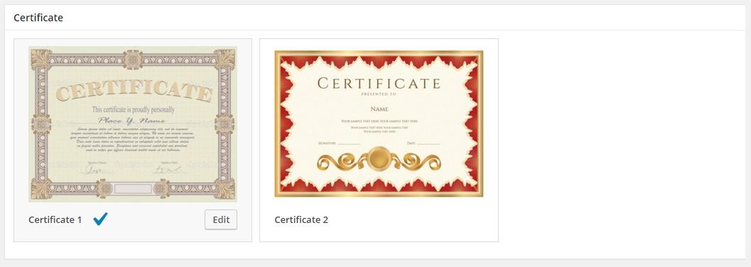 WordPess LMS plugin - Certificates add-on