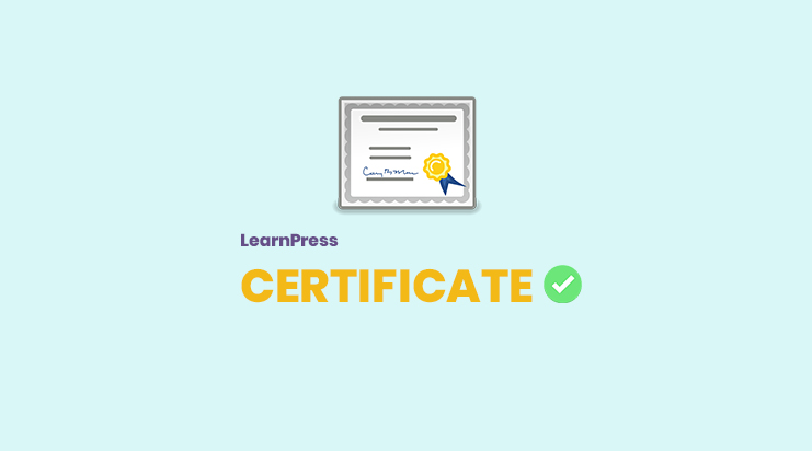 Certificates add-on for LearnPress