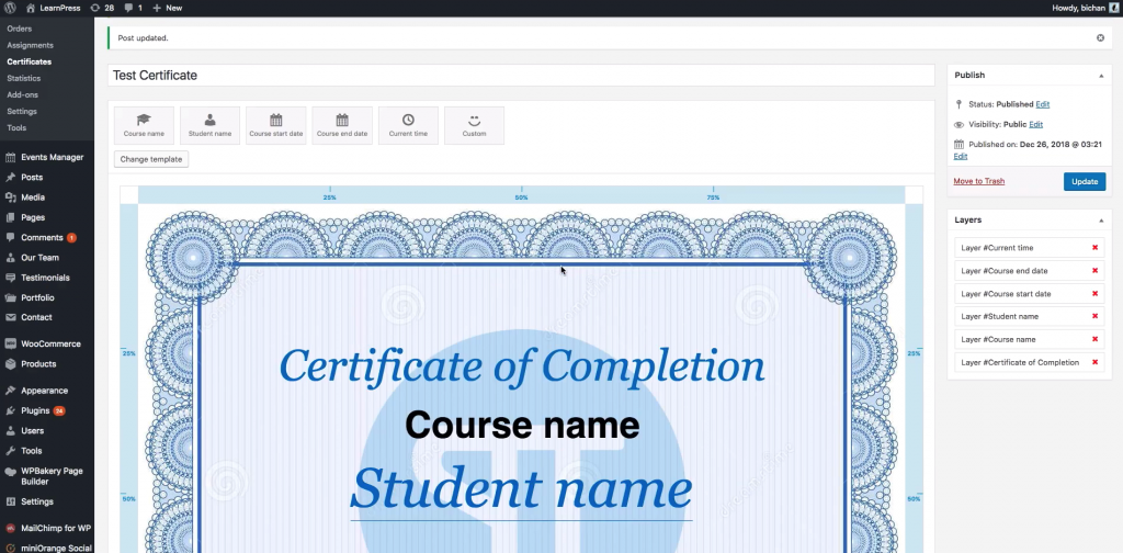 Sample Certificate Creation Backend