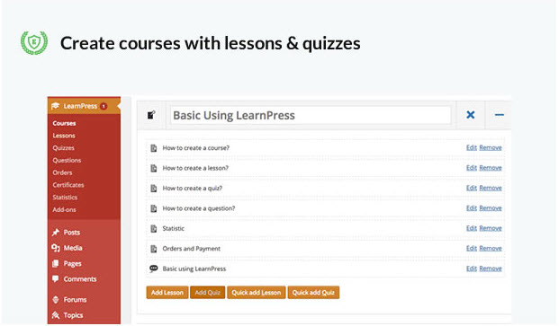 how to create online courses on wordpress