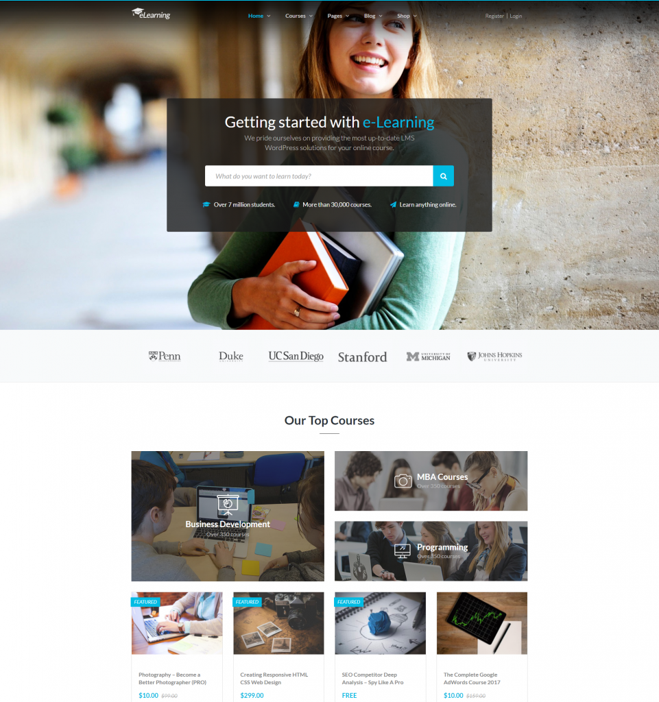 Education LMS WordPress Theme – eLearning WP