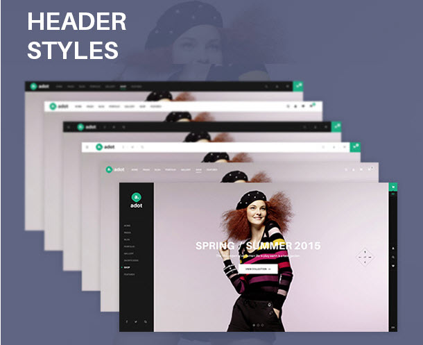 High design quality of Adot eCommerce wordpress theme