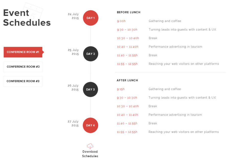Ramsey WordPress Event Theme - Event schedules