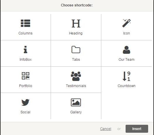 Ramsey WordPress Event Theme - Shortcodes