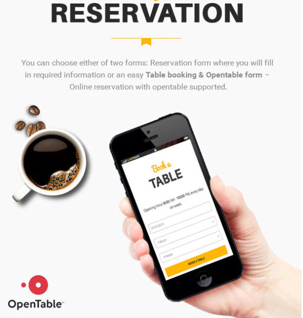 Restaurant WordPress Theme with Reservation feature