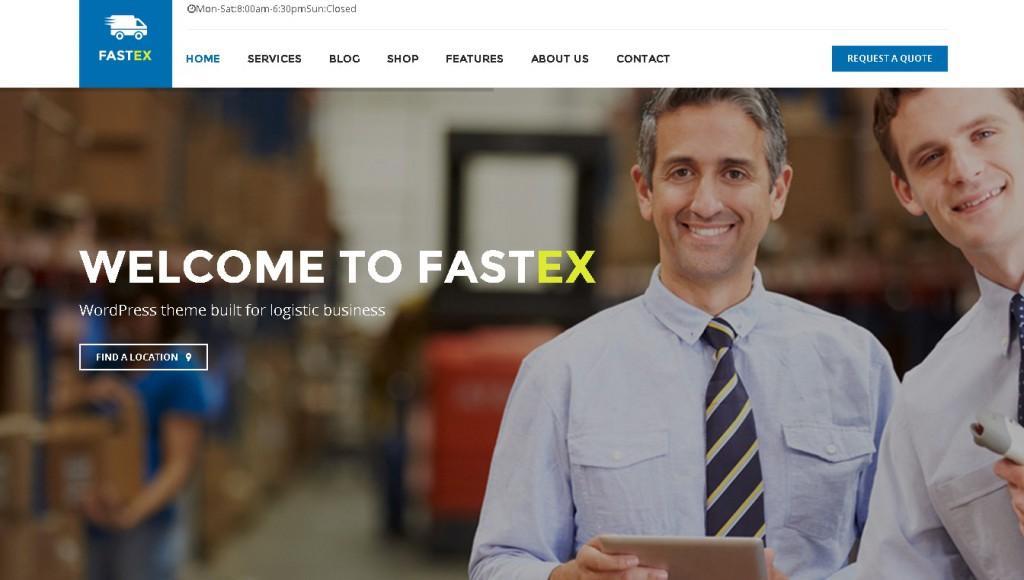 Transport & Logistics WordPress Theme - Fastex