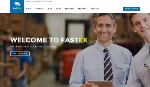 Transport & Logistics WordPress Theme – FastEx