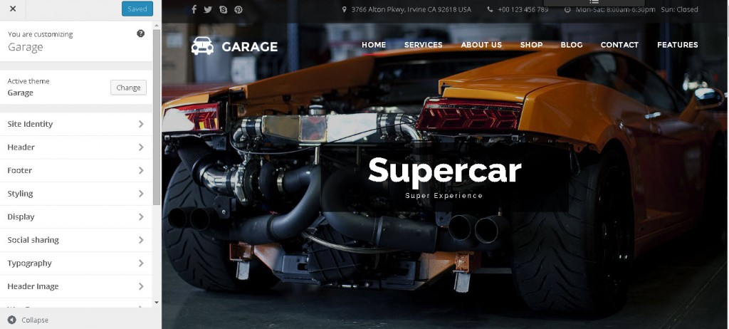 garage - car dealer wordpress theme