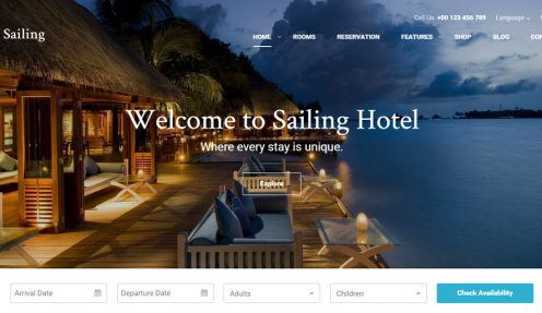 WordPress Hotel Theme with Online Reservation System – Sailing