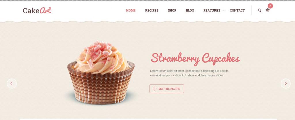 Bakery & Cake WordPress Theme - Cake Art