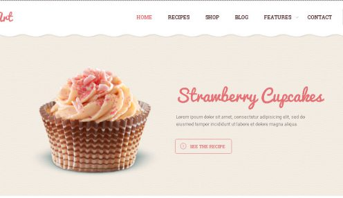 Yummy Bakery & Cake WordPress Theme – Cake Art