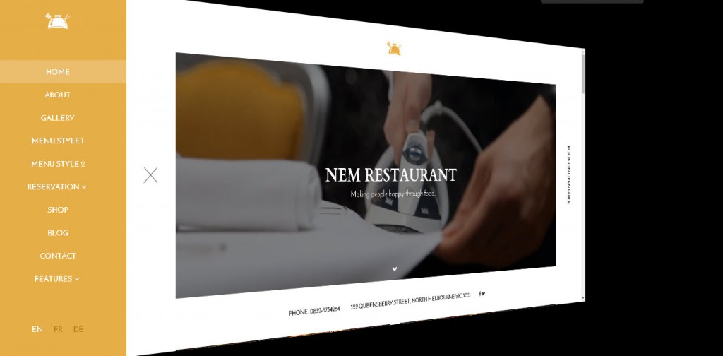 wordpress restaurant theme - NEM
