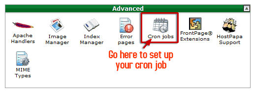 Example of Cronjob cPanel
