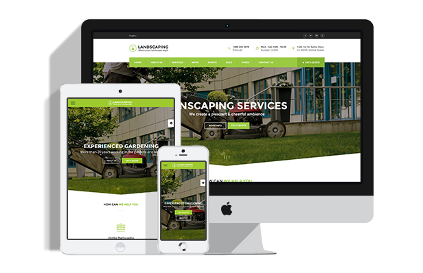 fully responsive Landscaping WordPress theme