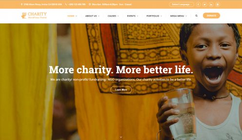 Charity WordPress theme – Charity WP