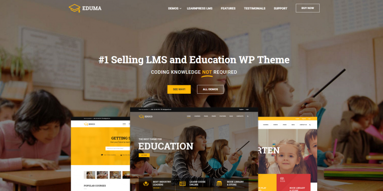 best-theme-for-udemy clone - Education WP