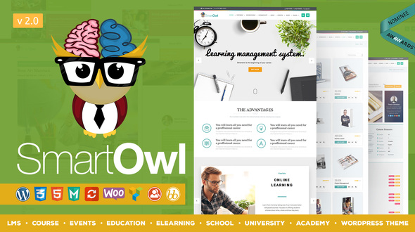 absolutely smart owl items. smartowl 9 Best Education WordPress themes powered by LearnPress LMS  ThimPress