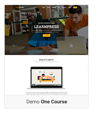 Education WordPress theme - Demo one course  Download Education WordPress Theme | Education WP nulled Education WordPress theme Dem One course