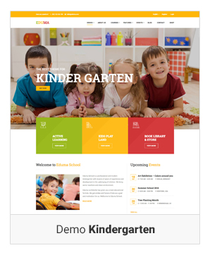Education WordPress theme - Demo kindergarten