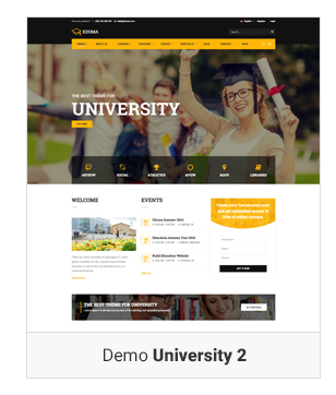 Education WordPress theme - Demo University 2