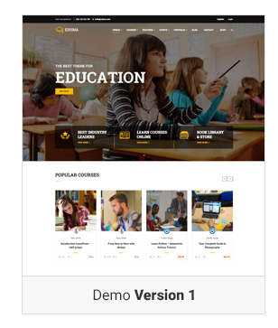 Education WordPress theme - Demo 1  Download Education WordPress Theme | Education WP nulled Education WordPress theme Demo v1