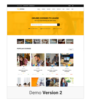 Education WordPress theme - Demo 2  Download Education WordPress Theme | Education WP nulled Education WordPress theme Demo v2
