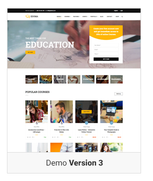 Education WordPress theme - Demo 3  Download Education WordPress Theme | Education WP nulled Education WordPress theme Demo v3