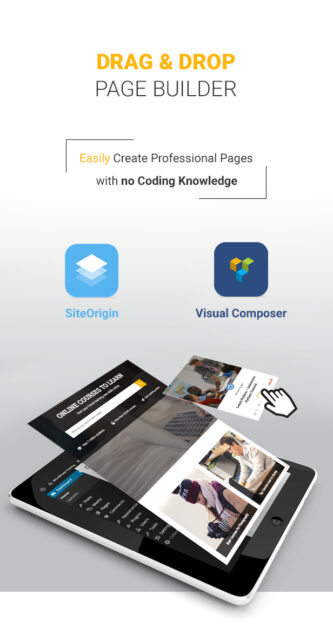 Education WordPress theme - Drag and drop page builder