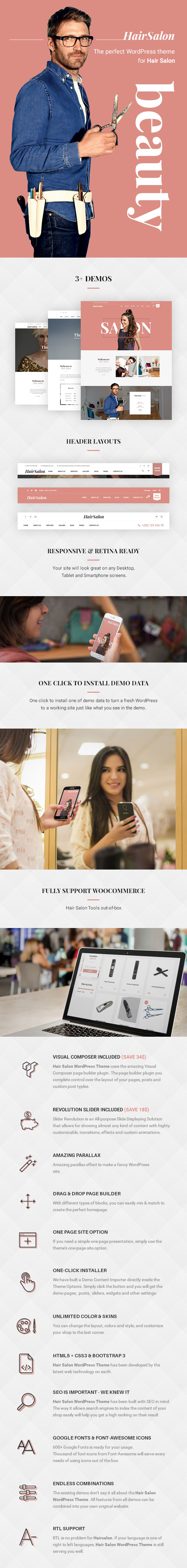 Hair Salon WordPress Theme - HairSalon WP