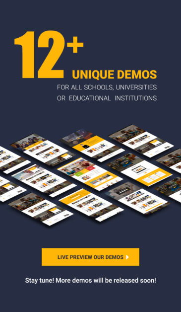 Education WordPress theme - Our demos