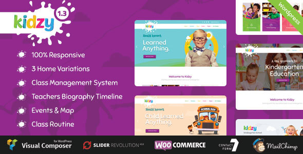 Best-WP-theme-for-teachers-Instructors-kidzy-preview