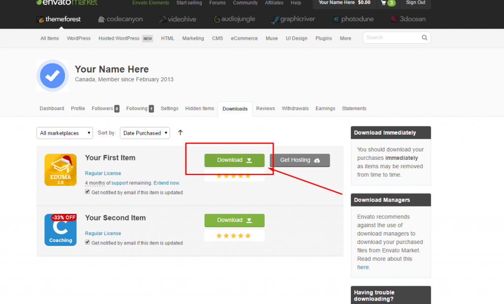 How to get my Envato purchase code? - ThimPress