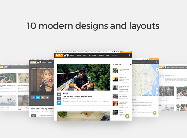 10 modern designs and layouts