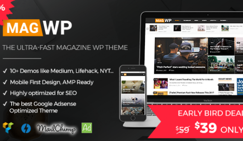 Magazine WordPress Theme | Mag WP – The combination of New York Times, Bloomberg, Mashable, Lifehack and all