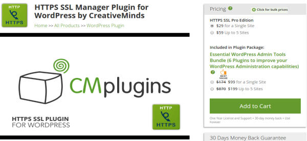 CM HTTPS Pro WordPress Plugin