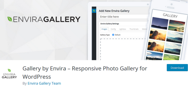 Envira Gallery Lite WordPress Plugin