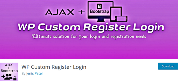 WP Custom Register Login