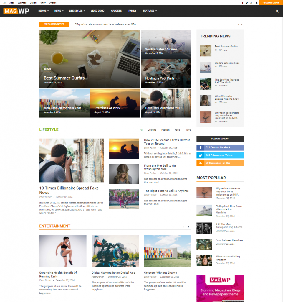 Mag WP | Magazine Newspaper Blog WordPress Theme