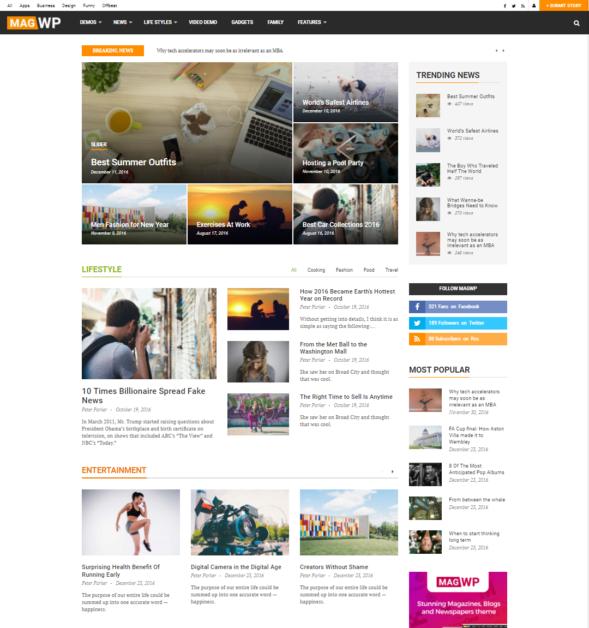 Mag Wp Magazine Newspaper Blog Wordpress Theme Thimpress