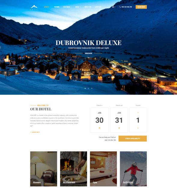 a1ad31987 Hotel and Resort WordPress Theme