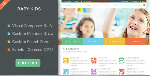 LMS-WordPress-theme-baby-kids
