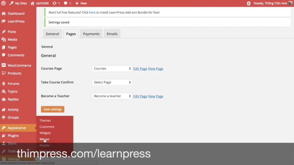 LMS plugin - learnpress