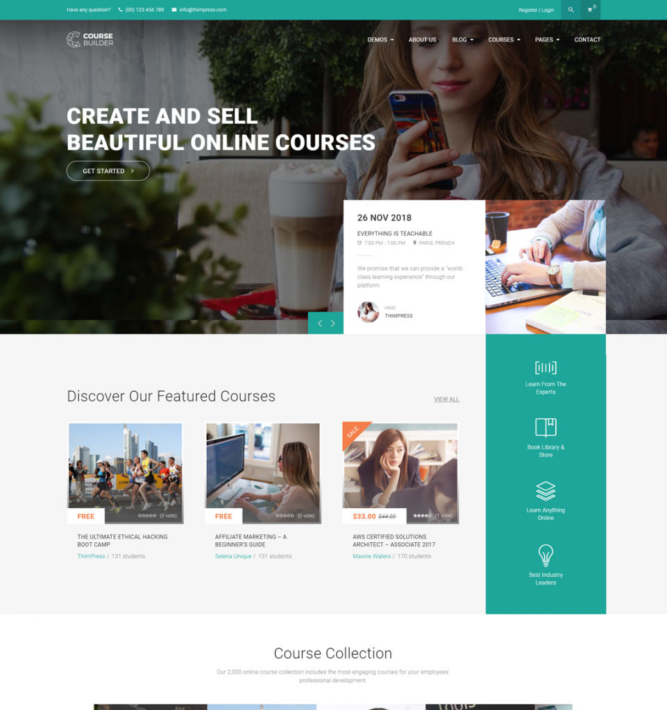 Course Builder | WordPress LMS Theme & Elearning Software
