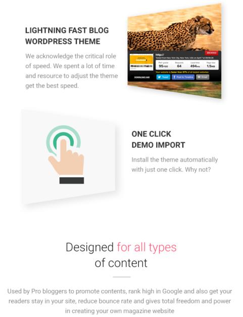 fast and highspeed theme magazette - magazine & blog wordpress theme (news / editorial) Magazette – Magazine & Blog WordPress Theme (News / Editorial) 6 lightning fast